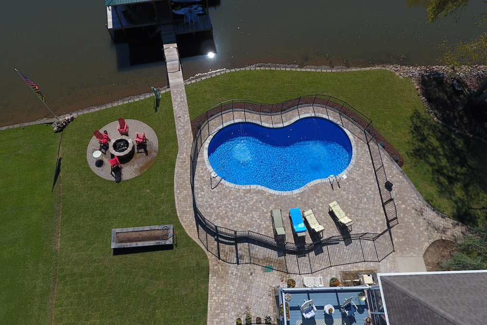 Aerial View of Vinyl Pool